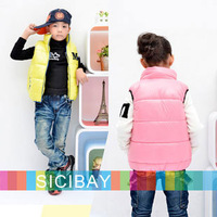 Fashion Vests Free Shipping Kids Wear Children Waistcoats Crew Neck Letter Printed Boys & Girls Outwear K0278