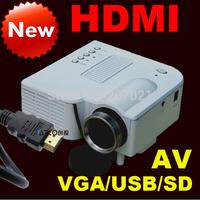 By HK Post Freeshipping ! UC28 with HDMI Mini Micro AV LED Digital Video Game pocket Projectors Multimedia player VGA AV USB SD