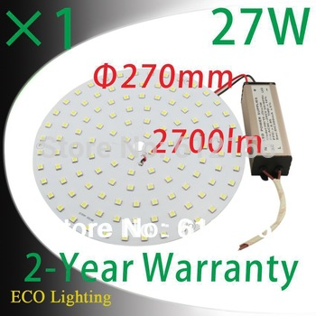 Free Shipping + 1pcs/Lot 27W 110V/220V Magnetic LED Downlights Led Ceiling  Lights Replace to 55W CFL Lights