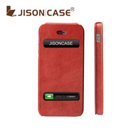 Luxury phone case for for iPhone 5 5g red novelty case original high quality leather material for apple iPhone 5 from Jisoncase