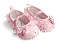 Free shipping baby prewalker shoes,first walkers,pink polka dot ,infant casual shoes,baby shoes