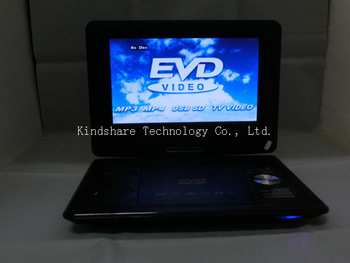 12 inch Portable Home DVD Player with Good 3D effect Plus Analog TV FM Radio USB Games Dolby ideal Gift for Friend