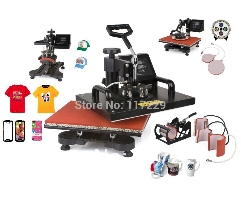 Advanced New Design 8 In 1 Combo Heat Transfer Machine,Sublimation/Heat Press Machine For Plate/Mug/Cap/TShirt /Phone case Etc(China (Mainland))
