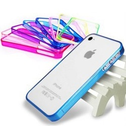 Ultra Thin Transparent Clear Bumper Case Cover for Iphone 4 4S(China (Mainland))