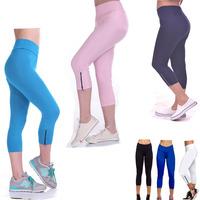 2014 High Waist Designer Sport Leggings Brand Yogo Pants Plux Size  trousers high waist short denim jumpsuit sports thin pants