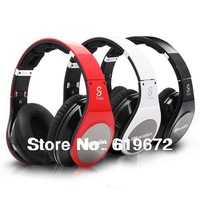 HiFi R Stereo Studio Headphone Headset Wireless Bluetooth Head phones for Iphone Hands-Free Folding LED Light Micr USB Red Black