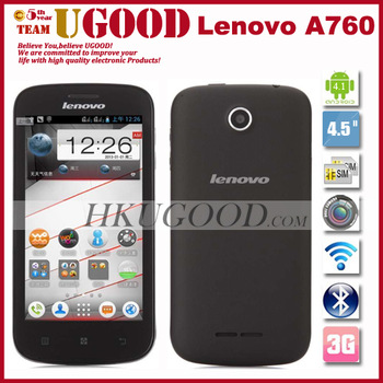 "Lenovo A760 Quad Core MSM8225Q Android phone 4.1 Os 4.5"" IPS Screen 5Mp Camera 1G RAM + 4G ROM Multi Language Russian In Stock"