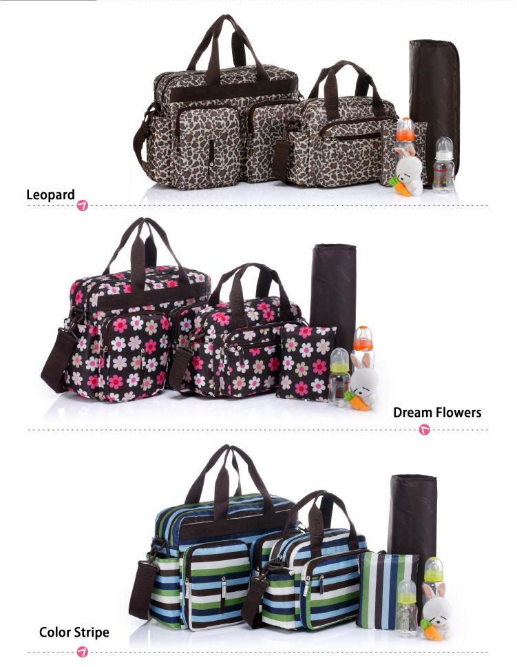 moda colorland multifunzionale 3 stili pannolino bambino borsa borse pannolini set per mummia sacchetti di famiglia con fasciatoio baby care