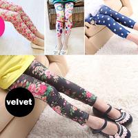 10pcs/lot 2014 new arrival girl legging flag flower leggings For 5-10 years many color to choose  659