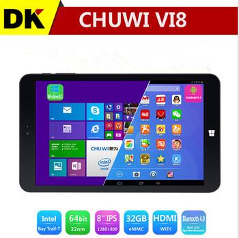 Двойной ос CHUWI VI8 Intel Z3735F четырехъядерных процессоров Windows 8.1 + андроид 4.4 2 ГБ 32 ГБ IPS Bluetooth 4.0 бесплатная доставка