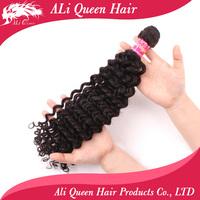 Brazilian deep curly virgin hair 1P/lot natural black hair 6a unprocessed cheap human hair weave curly