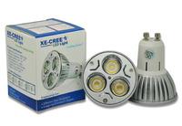 4 Pack Free Fedex DHL 12W VS 80W / 9W VS 50W LED GU10 / E27 / E14 / Gu5.3 CREE dimmable Warm Cool LED lamp LED bulb AC 85-265V