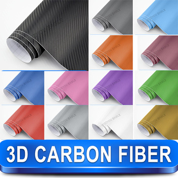 3D Carbon Fiber Car Wrap Vinyl Car Sticker Film / 1.52m x1m Twill Weave Texture Free Shipping Wordlwide By Fedex