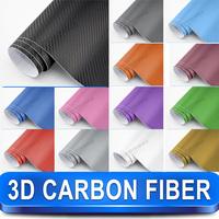 3D Carbon Fiber Car Wrap Vinyl Car Sticker Film / 1.52m x1m Twill Weave Texture Free Shipping Wordlwide By Fedex