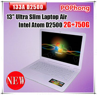 ultrabook 13.3 inch umpc hdd 750GB RAM 2G Intel Atom Processor D25001.86 GHz window7 mini pc