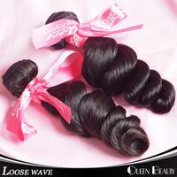 6A unprocessed virgin hair brazilian loose wave,natural color brazilian hair bundles 2pcs,no shedding no tangles,free shipping
