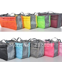 Free Shipping High Quality 11 Colors Lady's Organizer Cosmetic Bags Pockets Storage Clutch Bags Wholesale And Retail