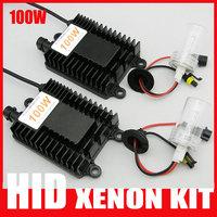 100W HID Xenon kits H1 H3 H4 H7 H8 H9 H11 9004 9005 9006 9007 880 881 D2H 4300K 5000K 6000K 8000K