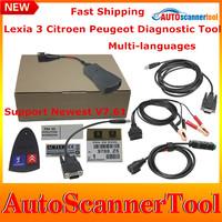 2014 Quality A+ Lexia 3 PP2000 V24 Lexia-3 lexia3 V47 Citroen/Peugeot Diagnostic Tool Newest Diagbox V7.44 With Multi-Languages