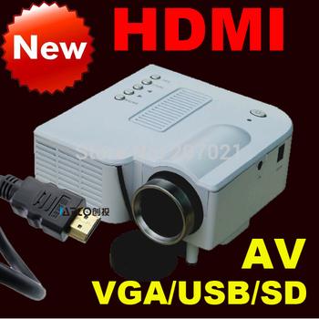 ATCO 100Lumens Led Mini game projector HDMI Micro AV LCD Digital Video Pocket beamer Projectors Multimedia Player VGA USB SD
