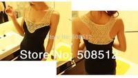 TT-001 Free shipping women fashion cotton elastic rib hollow out crochet tank tops , sexy vest , cool singlet