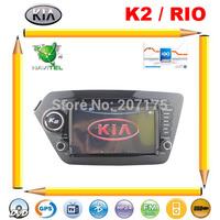 KIA K2 2011-2012 RIO 2012 Car DVD GPS Head Unit with Radio TV Support Car DVR/Camera, Russian Menu+Free Navitel Map & TV Antenna