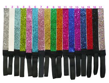 """(312 pieces/lot) 3/4"""" Sport Glitter Headbands"""