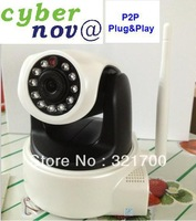 cybernova HD  MegaPixel 720P  Pan/tilt H.264 wireless IP Camera supprt 32GB card storage with WiFi +P2P plug&play