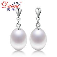 DAIMI Fine Pearl Earring, 100% Genuine Pearl with 925 Sterling Silver DROP Earr