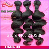 Best selling Brazilian hair loose wave 3pcs lot human hair weave wavy hair extension fashion pattern 100g/pc free shipping