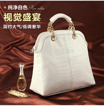 2015 Modern Pure Snow White Famous Brand POLO Clutch Retro Messenger Shoulder Bag,Fashion Women's Croco Leather Handbags,SJ022