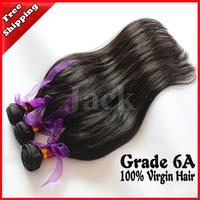 Queen Virgin Hair Malaysian Hair Straight  3Pcs/Lots 12-30Inch 100g/pcs Natural Black 100g  Color  Free Shipping