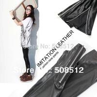 PS-P008 Free shipping women's good stretch matte Imitation leather slim leggings, hot sell leggins, with zipper on leg