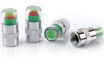 Hot 4pcs Car Auto Tire Pressure Monitor Valve Stem Caps Indicator 2.4 35