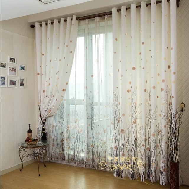 Schlafzimmer Gardinen Kurz  reich baum vorhang modernes kurze