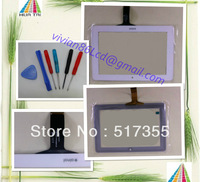 "white  COLOR new 7""  Novo 7 Venus touch Panel digitizer touch screen  Free tools"