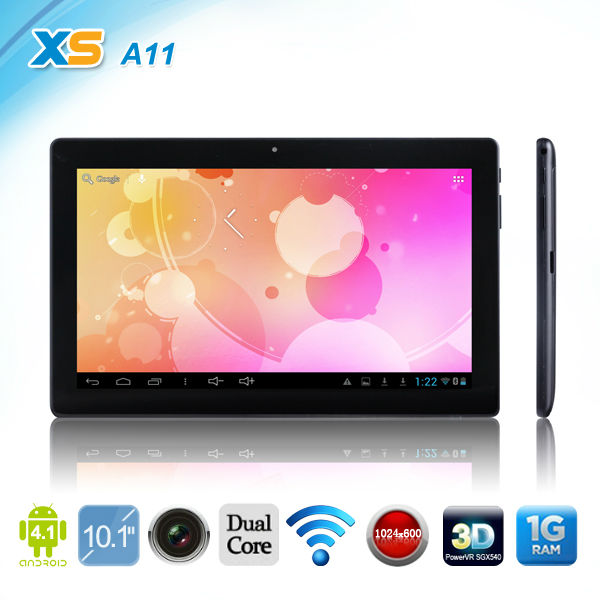 A11 RK3066 Dual-core CPU Quad-Core GPU 10.1 inch 1024x600 1GB RAM 16GB ROM Tablet PC Android 4.1 5 Point multi-capacitive(China (Mainland))