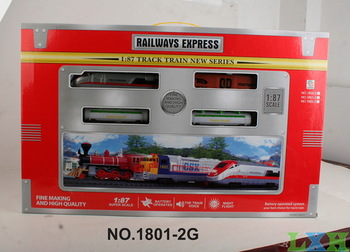 Wholesale electric trains truck  1:87 Plastic model trains toys for children railroad Simulation train sounds, lights
