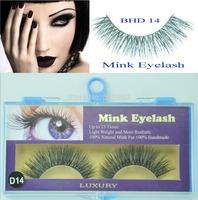 Wholesale--Free shipping--5 pairs MINK FUR Eye Lash extension, Artificial Fake False eyelashes BHD 14