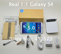 100% Full 1:1 original galaxy S4 i9500 Phone MTK6589 Quad core 1gb RAM 1280x720 resolution Android 4.2.2