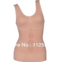 free shipping 2013 SEAMLESS CA MISOLE 3 1 volcano stone back back good body sculpting underwear vest chest abdomen bra holder
