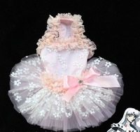1 piece PINK Romantic dress for dog puppy cat puppy pet summer clothes