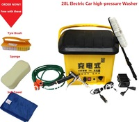 Free Shipping Big spacity  Wireless 28L Electric Car Washer with High-pressure Sprayer