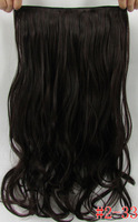 "22"" (55cm) 120g High temperature silk matte ,5 clips wave hair extensions,  FREE SHIPPING mixed color #2/33"