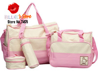 FREE SHIPPING baby kingdom pink messenger baby diaper bag baby kingdom mummy bag stroller clips waterproof nappy diaper bag
