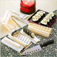 Japanese Sushi Shape Mould Sushi Device 10 Pieces Rice Cake Mould DIY Sushi Set For Rolls Master Maker