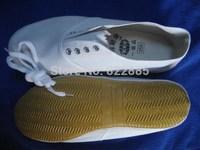 Ballet men's soft outsole flat heel dance shoes work shoes gym shoes white yoga