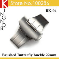 BK-04 316L Steel Brushed Deployment Buckle watch clasp watchband buckle 22mm For Panerai Watches Free Shipping