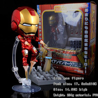 "Free Shipping Cute Nendoroid 4"" Iron Man Tony Stark Set PVC Action Figure Collection Model Toy #284"