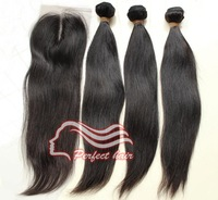 Brazilian Virgin Hair Extension Lace Top Closure With Brazilian Hair Virgin Bundles 4x4 Straight Middle Part Lace Closure